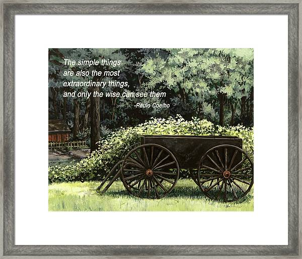 The Simple Things Framed Print