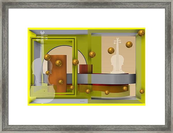 The Singular Song In Yellow Framed Print
