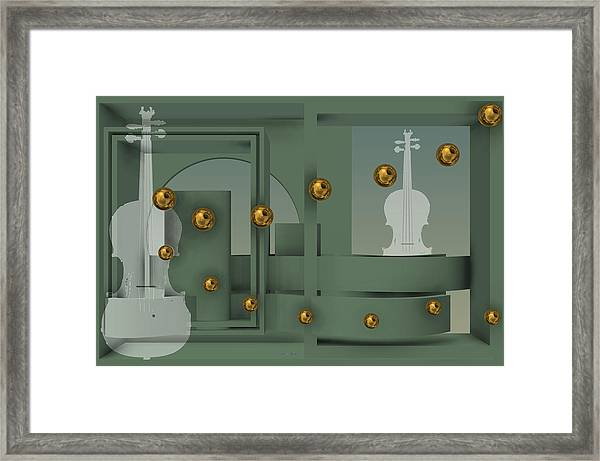 The Singular Song With Gold Balls Framed Print