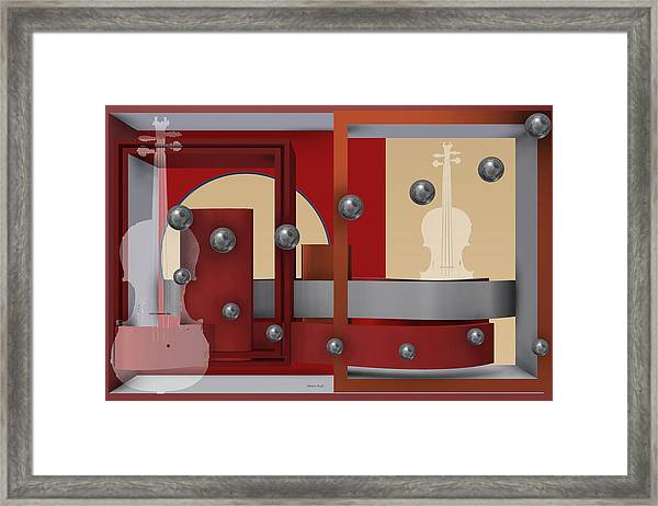 The Singular Song With Silver Balls Framed Print