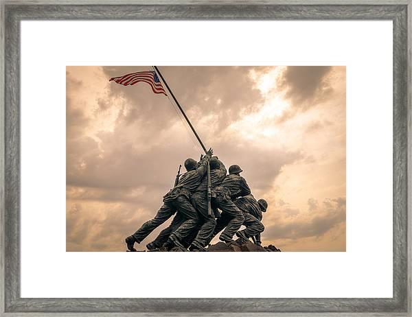 The Skies Over Iwo Jima Framed Print