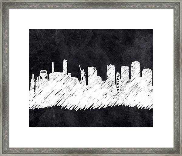 The Skyline - Birmingham - Alabama Framed Print