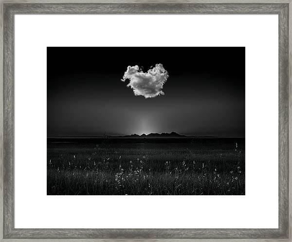 The Smallest Mountain Range Framed Print