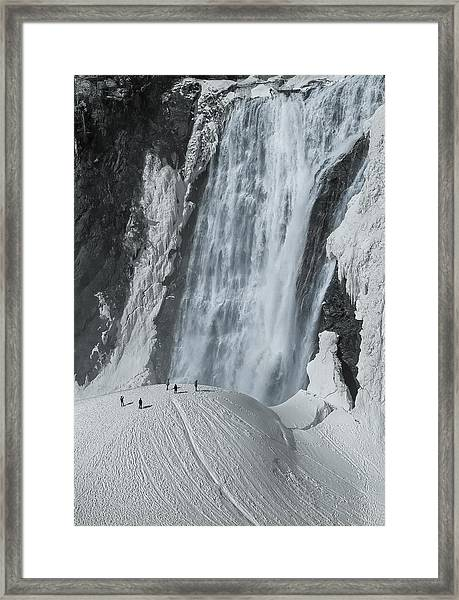 The Smallness Of Man Against Nature Framed Print by Mirek