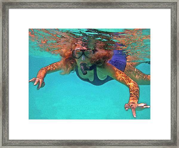 The Snorkeler Framed Print