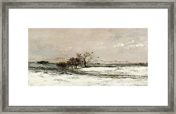 The Snow Framed Print