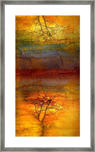 The Soul Dances Like A Tree In The Wind Framed Print
