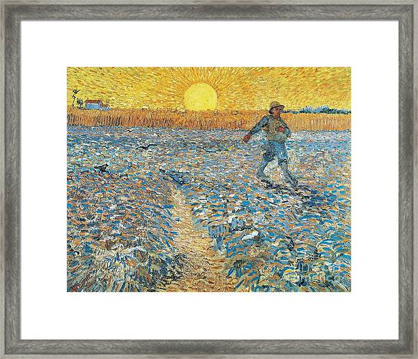 The Sower Framed Print