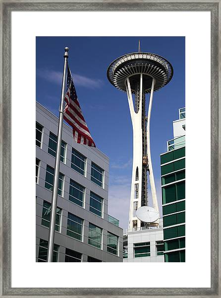 The Space Needle Too Framed Print