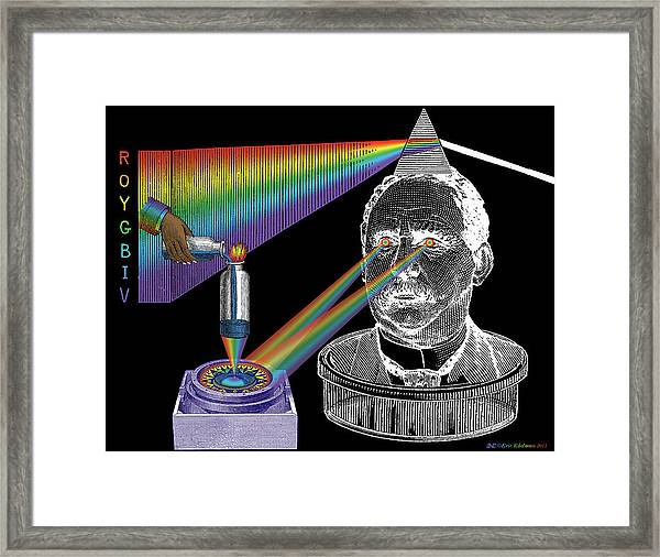 The Spectre Of Chromatopia Framed Print