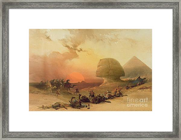 The Sphinx At Giza Framed Print