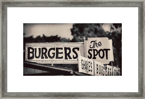 The Spot Framed Print