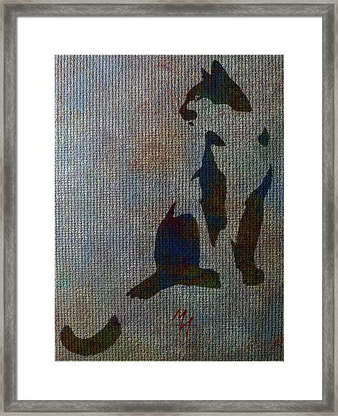 The Spotted Cat Framed Print