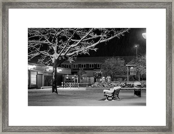 The Square In The Snow Framed Print