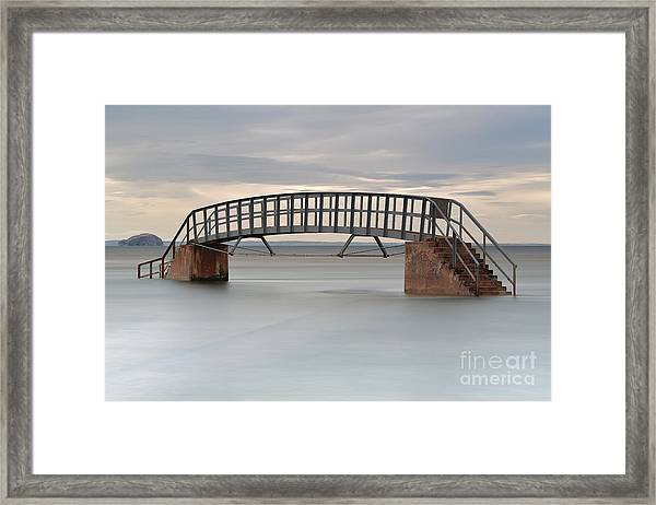 The Stairs And The Bass Framed Print