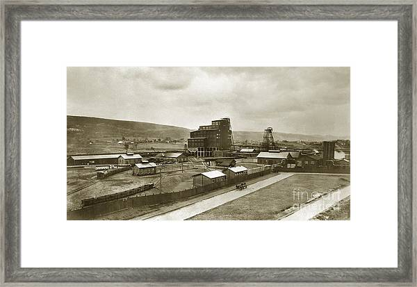 The Stanton Colliery Empire St. The Heights Wilkes Barre Pa Early 1900s Framed Print