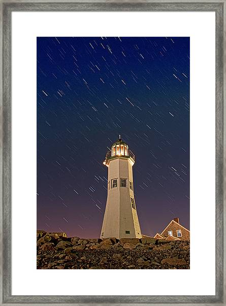 The Star Of Old Scituate Light Framed Print