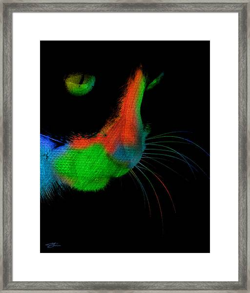 Framed Print featuring the mixed media The Stare by Shevon Johnson