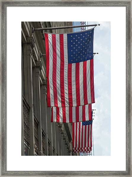 The Stars And Stripes Framed Print