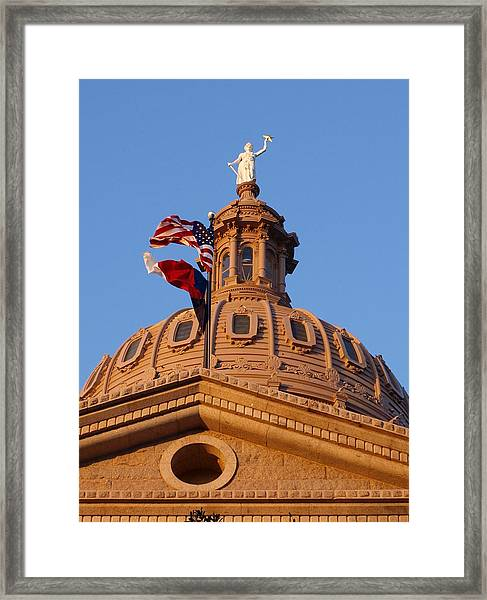 The State Of Texas Capital II Framed Print