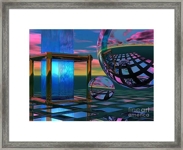 The Station Framed Print by Sandra Bauser Digital Art