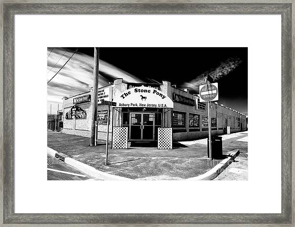 The Stone Pony In Asbury Park Framed Print