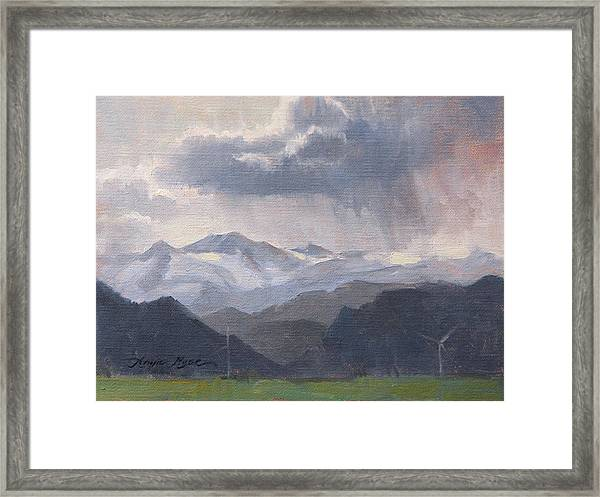 The Storms Beyond Framed Print