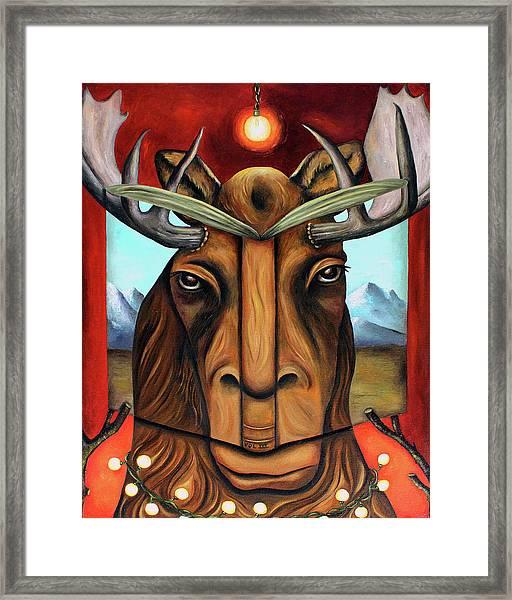 The Story Of Moose Framed Print