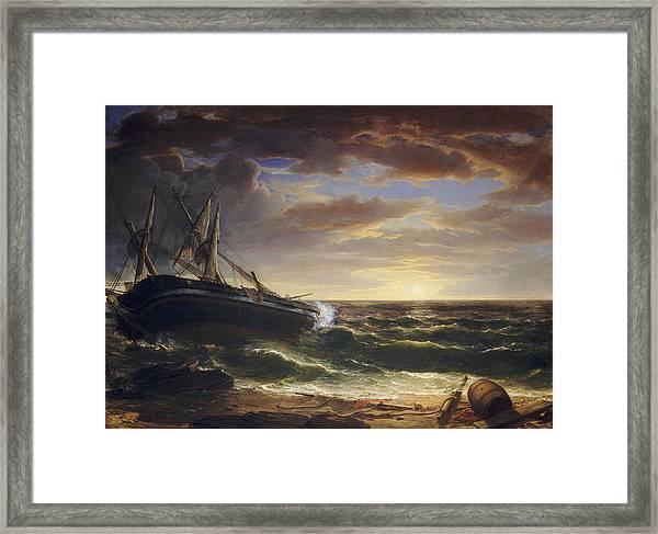 The Stranded Ship Framed Print