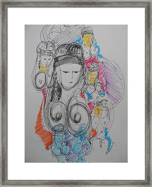 The Stripper's Mirror Framed Print
