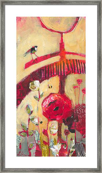 Framed Print featuring the painting The Suitor by Shelli Walters