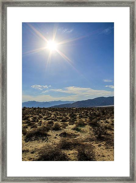 Framed Print featuring the photograph The Sun by Break The Silhouette