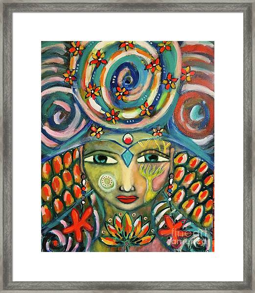 The Sun Goddess  Framed Print