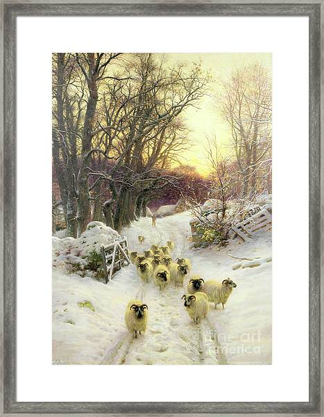 The Sun Had Closed The Winter's Day  Framed Print