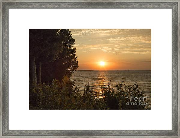 The Sun Is Setting Framed Print