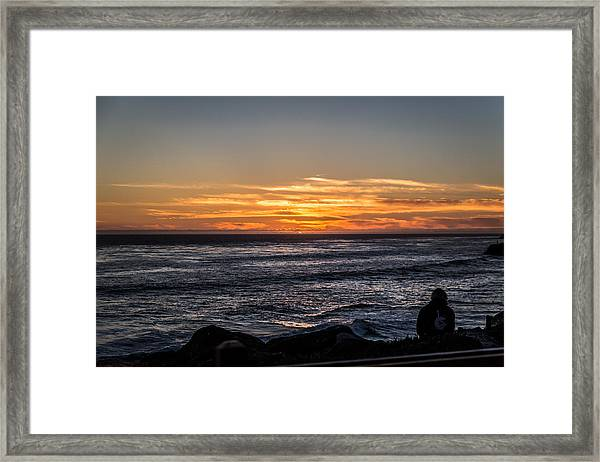 The Sun Says Goodbye Framed Print