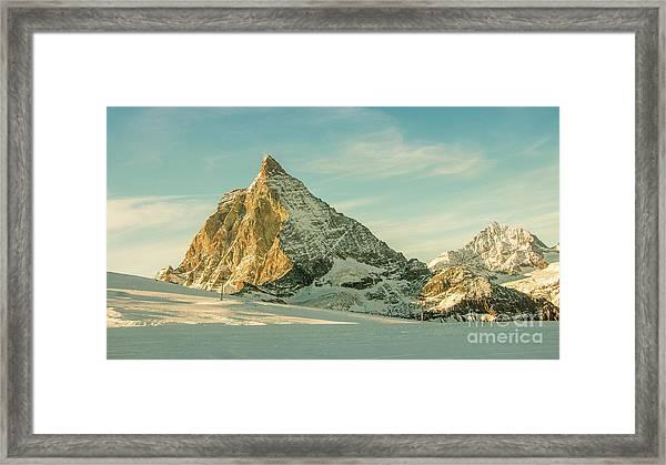 The Sun Sets Over The Matterhorn Framed Print