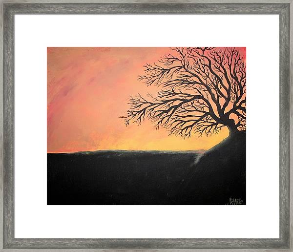 The Sun Was Set Framed Print