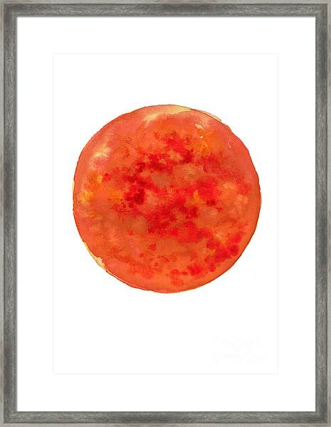 The Sun Watercolor Art Print Painting Framed Print