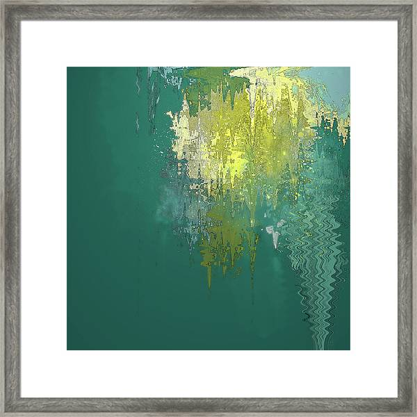 Framed Print featuring the digital art The Sunken Cathedral by Gina Harrison