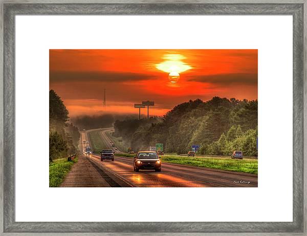 The Sunrise Commute Georgia Interstate 20 Art Framed Print