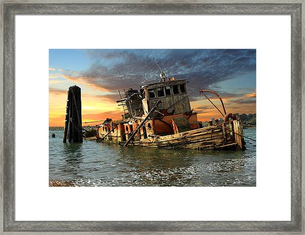 The Sunset Years Of The Mary D. Hume Framed Print