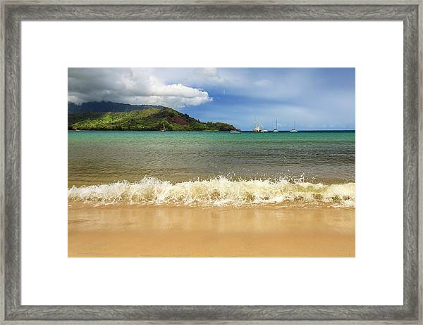 The Surf At Hanalei Bay Framed Print