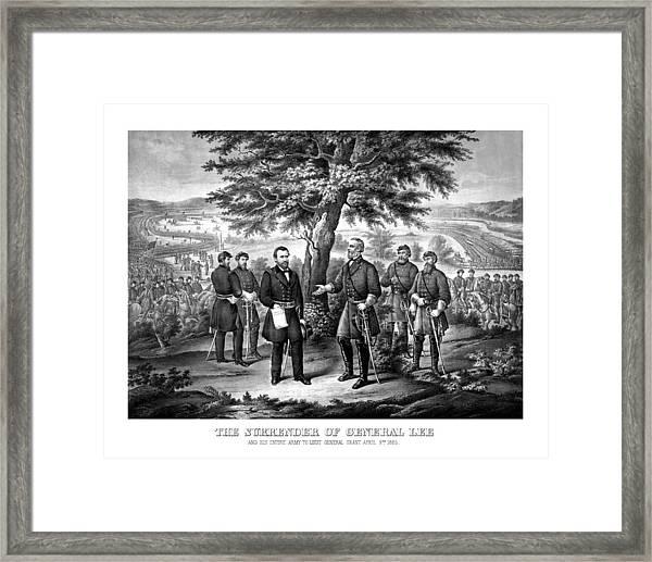 The Surrender Of General Lee  Framed Print