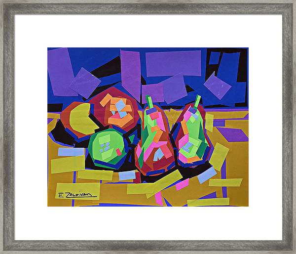 The Sweet Fruits Of Art Framed Print