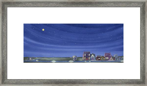 The Sweetest Little Town In The Prairie II Framed Print