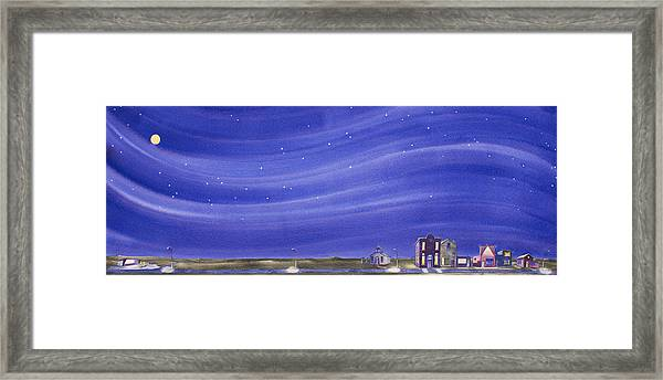 The Sweetest Little Town In The Prairie IIi Framed Print