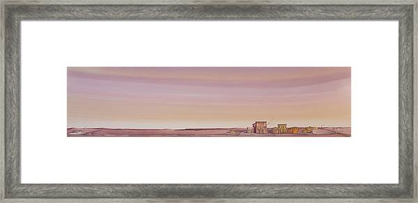 Framed Print featuring the painting The Sweetest Little Town On The High Plains by Scott Kirby