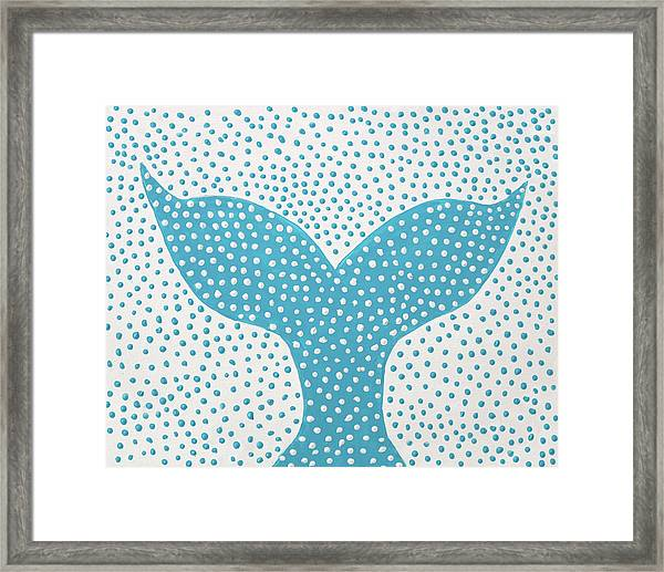 The Tail Of The Dotted Whale Framed Print