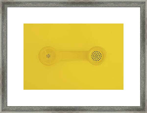 The Telephone Handset Framed Print